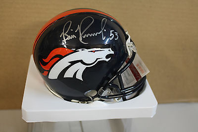 Denver Broncos Bill Romanowski #53 Signed Mini Helmet 2X Sb Champs Jsa Witness