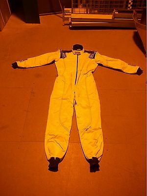 **SOILED** Sparco K-3 FIA Approved Karting / Go Kart Suit In White - Small (S)