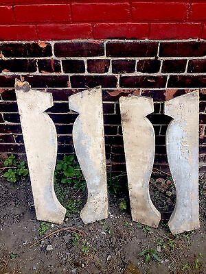 Set Of 4 Large Wood Corbels Architectural Salvage