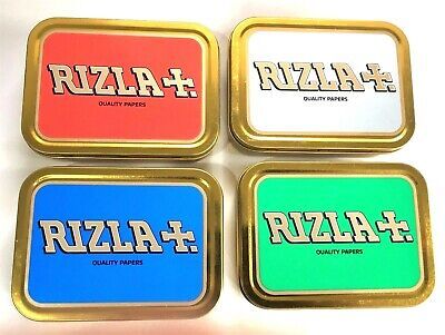 2oz Metal Rizla Storage Smoking Cigarette Tobacco Tin 4 Colours LICENCED