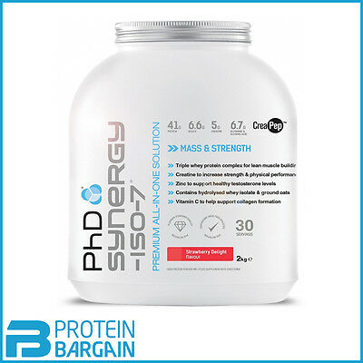 PhD Nutrition Synergy Iso-7 2kg Premium All in One Formula ***AMAZING PRICE***