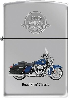 Zippo Harley Davidson HD Road King Classic Motorcycle Polish Chrome Lighter RARE