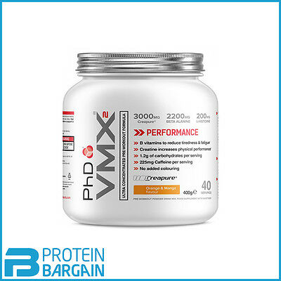 PhD Nutrition VMX2 Ultra Concentrated Pre Workout 400g All Flavours