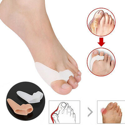 2 Pcs Gel Silicone Foot Toe Bunion Pain Relief Straighteners Separator Alignment