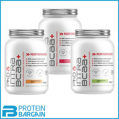 PhD Intra BCAA+ Premium Intra Workout BCAA 450g All Flavours Best Price
