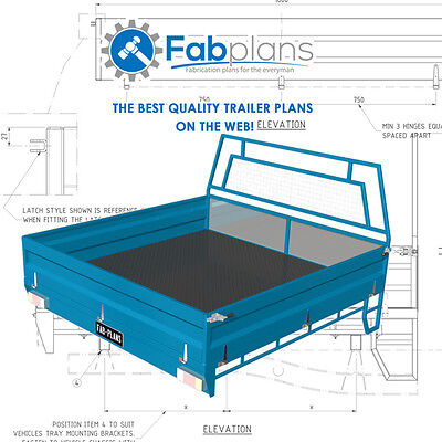 Space Cab steel Tray Plans -1850x1800 - Build your own ute tray. A4