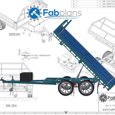 10'x7' Tipper Trailer plans - Build your own tandem axle dump trailer - CDROM