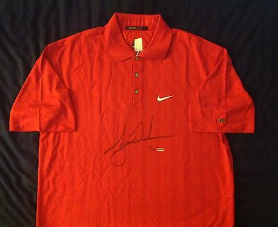 Tiger Woods Upper Deck Authenticated signed 2008 US Open Nike Polo Auto UDA