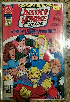 1991 DC JUSTICE LEAGUE EUROPE #2 Annual! **SHIPPING DISCOUNTS**