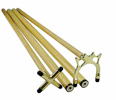 BRASS Spider & Cross RESTS with two HANDLES - Pool Billiard Snooker Table