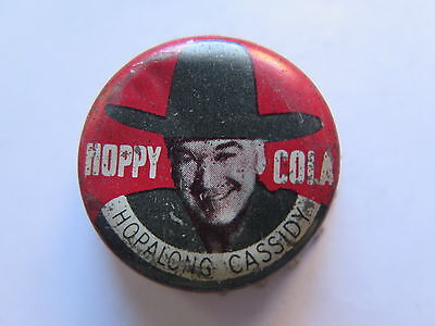 CROWN SEAL BOTTLE CAP HOPALONG CASSIDY HOPPY COLA AUSTRALIAN USED c1960