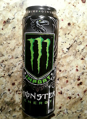 "MONSTER Energy Drink ""IMPORT"" 18oz.Can - New & Full Resealable Can"