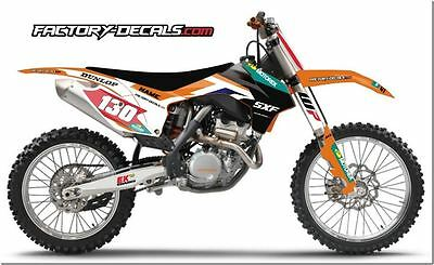 KTM Factory SXF SX EXC 125 250 350 450 Graphics Decals any year 1990-present