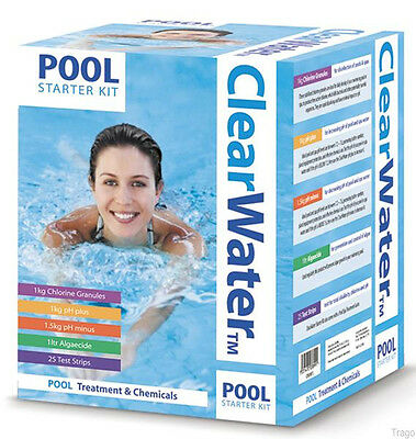 Clearwater Swimming Pool Hot Tub Spa Water Treatment Chemical Starter Kit Ch0017