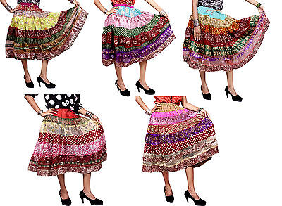 5pcs-100pcs Around Medium Skirts Silk Embroidered Sequin Work Wholesale Lot