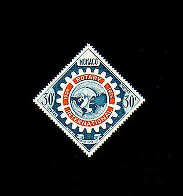 Monaco - 1955 - Rotary - World Map - Diamond - Mint - Mnh Single!
