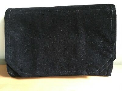 Longaberger So Rachel Black Jewelry Roll-up Travel Carry Case / Pouch