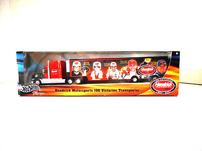 Hotwheels Nascar Transporter 100 Victories 1984-2001 Collectable Metal