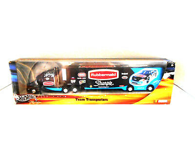 Hotwheels Nascar Transporter Kurt Busch 54690 Rubbermaid Collectable Metal