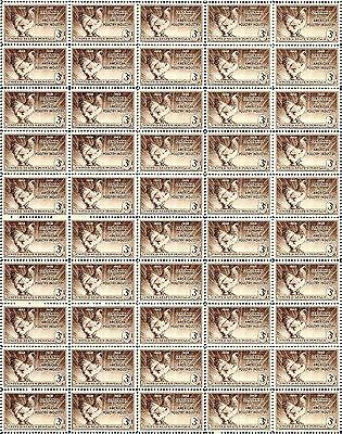 1948 - POULTRY (BRAHMA CHICKEN) - #968 Mint -MNH- Sheet of 50 Postage Stamps