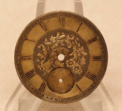Spindel Uhr Zifferblatt Taschenuhr fusee pocket watch dial parts clock
