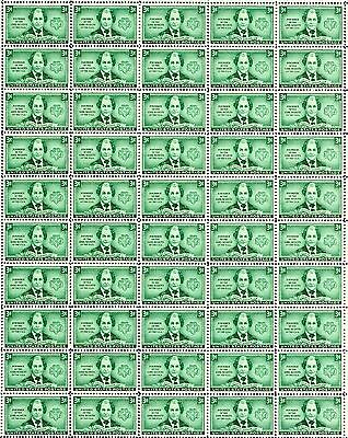 JULIETTE LOW - GIRL SCOUTS (1948) - #974 Full Mint Sheet of 50 Postage Stamps