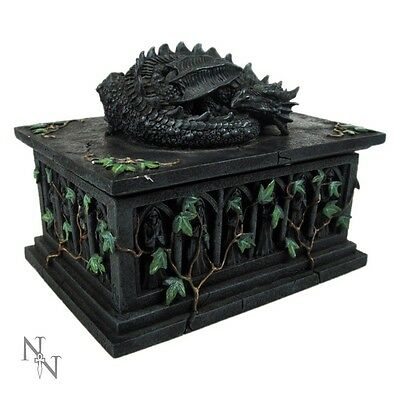 Nemesis Now - Dragon Tarot Card Trinket Money Case Box 18cm - Wiccan - Free P&P