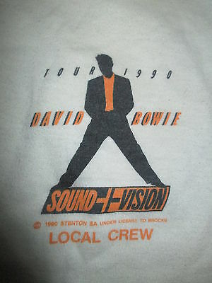 "1990 DAVID BOWIE ""Sound-Vision"" CREW Concert Tour (XL) T-Shirt"