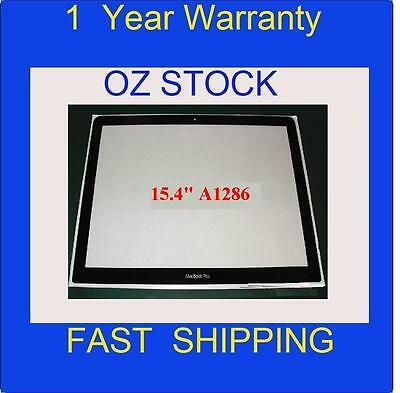 """NEW OEM Screen Glass cover for A1286 Apple Macbook Pro Unibody LCD 15.4"""" sydney"""