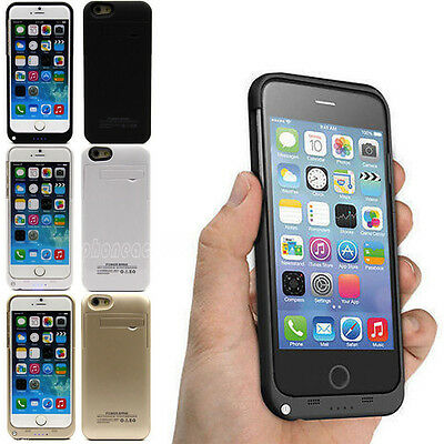 External Battery Backup Charger Case Cover Power Bank For iPhone 6 & 6 Plus 5.5""