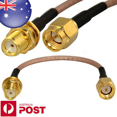 4inch RF Coax Pigtail Cable SMA Male to SMA Female With Nut Bulkhead 10cm - Z167