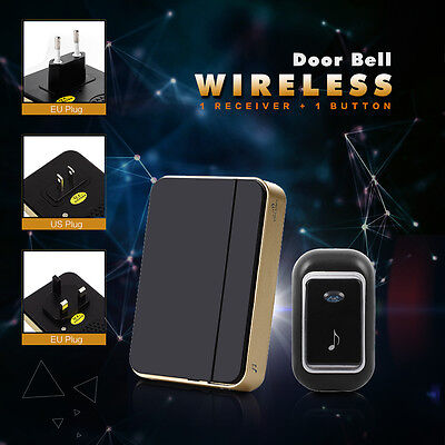 Wireless Portable Digital LED Door Bell 52 Sound Music Cordless Chime 150M Range