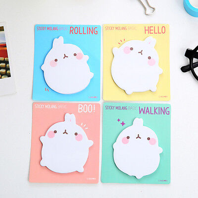 4x Cute Rabbit Sticky Notes Sticker Bookmarker Memo Pad Home Office Class