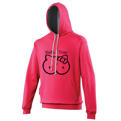 Hello Titty Childrens Hoodie Hoody Hooded Sweater Offensive Rude Funny TS263