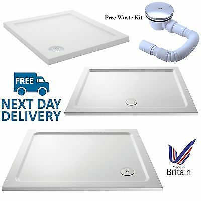 Durovin Stone Or Acrylic Shower Tray Free Waste Kit Rectangle Square Quadrant