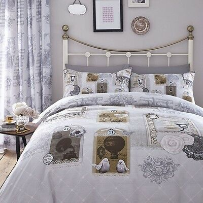 Antique Collage Multi Luxury Duvet Cover Bedding Set By Catherine Lansfield