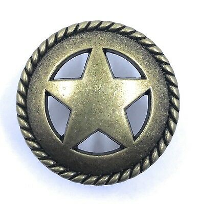 Star & Rope Cabinet Knob Drawer Pull Texas Southwest Western Decor