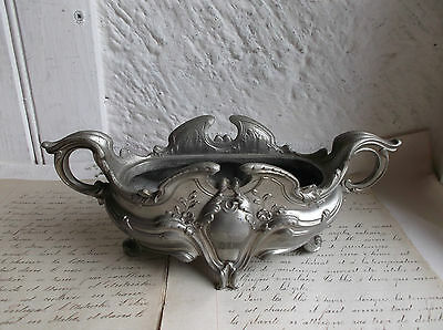French antique chateau ornately metal indoor small planter pot gorgeous