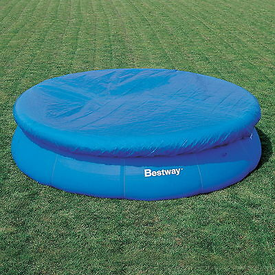 NEW 15ft LARGE BESTWAY FAST SET SWIMMING PADDLING POOL COVER PROTECTOR WITH ROPE