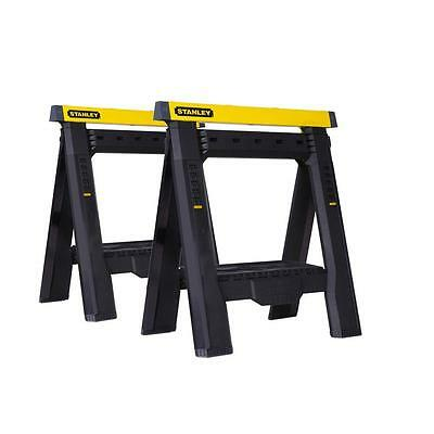 Stanley Adjustable Sawhorse (2-Pack) Saw Work Portable Tool Saw Pair Heavy Duty