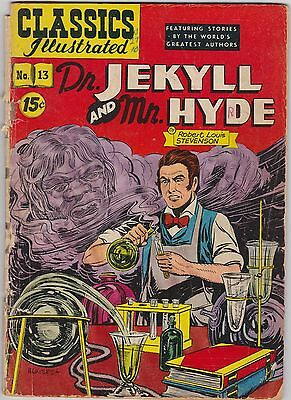 Classics Illustrated #13 Dr. Jekyll and Mr. Hyde by Robert Louis Stevenson