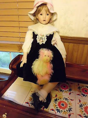 """Donna Rubert 28"""" tall Shay porcelain doll free shipping"""