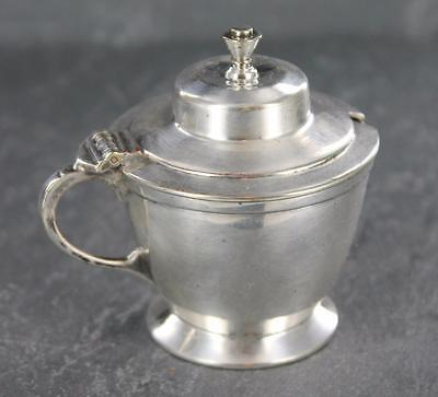 Attractive antique SILVER PLATED lidded MUSTARD POT by ROBERTS & BELK, 1928