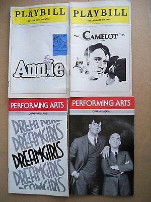 LOT OF 4 Playbills SAN FRANCISCO Musicals  1981 - 1988