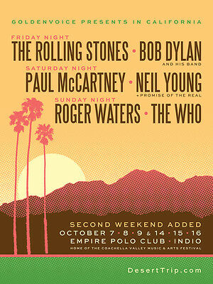 Desert Trip - Empire Polo Club - Indio, CA - Weekend TWO - Oct 14.15.16,2016