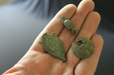 Roman Military lot belt ends decorations Cavalry Infantry 2nd century bronze