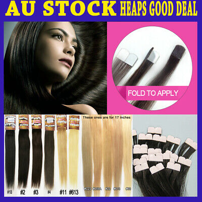 "18""-19"" Micro Tape 100% Remy Human Hair Extension More Invisible & Comfortable"