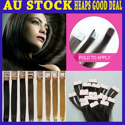 "20"" Micro Tape Remy Human Hair Extension New Technique More Invisible & Comfy"
