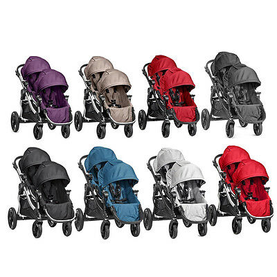 New Baby Jogger 2016 City Select Double/Twin Stroller Pram w/ Second Seat
