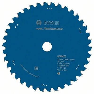 Bosch Professional Expert for Stainless Steel 192 × 20 × 1,9 / 1,6 / 38 Zähne